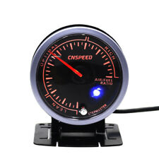 "2.5"" 60mm Auto Car Step Motor Dual Color LED Air/Fuel Ratio Gauge Monitor Meter"