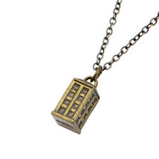 Doctor Who Gold Tardis Charm Pendant Necklace