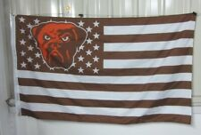 Cleveland Browns 3x5 Ft American Flag Football  New In Packaging