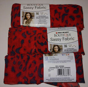Lot of 3 Red Leopard Sheer Red Heart Boutique Sassy Fabric NEW Scarf