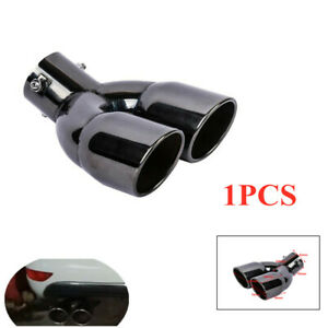 General 63mm Car Double Stainless Steel Exhaust Muffler Dual Pipe Tail End Tip