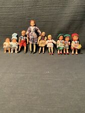 Vintage Dollhouse Bendable People, Lot of 9