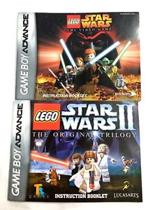 LEGO Star Wars: The Video Game 1 & 2 Instruction Manual GameBoy Advance GBA Lot