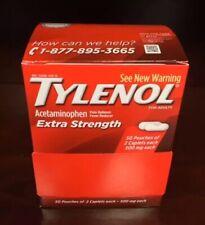 50Tylenol(25 Pk of 2 Caplets)Extra Strength(500 mg each) Exp. 07/2023 Ship Today