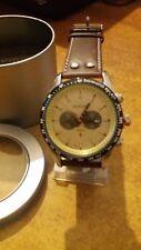 orologio uomo Animoo con datario bracciale cuoio cronolook fondooro a 5686