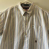 Tommy Hilfiger Polo Shirt Striped Men's Size XXL Short Sleeve Red Blue & Yellow