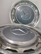 2 original Mercedes Oldtimer Radkappen 39 cm, 14 Zoll Chrom...
