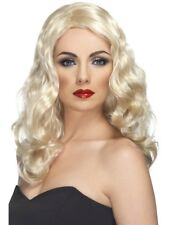 Blonde Curly Long Glamour Wig Ladies Celebrity Fancy Dress Accessory