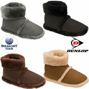 MENS SLIPPERS NEW ANKLE FLEECE WARM LINED NORDIC WINTER FUR BOOTS SHOES SIZE