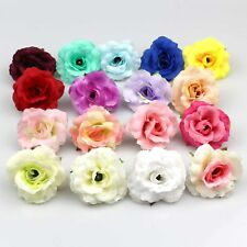 50X Mixed color Artificial Fake Flower Silk Rose Heads Bulk Wedding Home Decor
