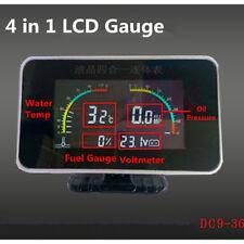 4+1Digital Display Voltmeter/Water Temp/Oil Pressure/FuelGauge+Emperature Sensor