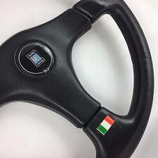 NARDI GARA da 365mm NERO PELLE VOLANTE Automobile. ORIG. classico italiano.