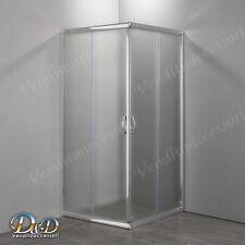 Box doccia bagno 70x90 Cristallo stampato opaco 6mm angolare apertura scorrevole