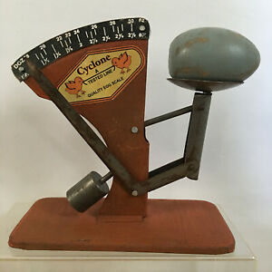 Cyclone A TESTED LINE Quality Rustic Vintage Tin Poultry Egg Scale Farmhouse