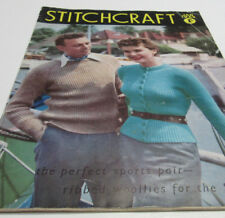Stitchcraft 1953 Antique Knit, Crochet, Embroidery Booklet UK Vintage PATTERNS