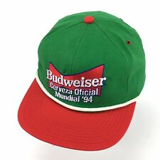 a2fa706a54c Vintage 1994 Mexico Budweiser World Cup Soccer Snapback Hat Cap Made In USA