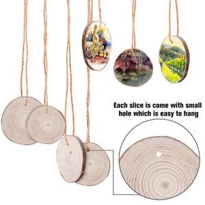 30tlg  6-7cm Holzscheiben Baumscheiben Astscheibe rund Hochzeit Bastel Deko DE