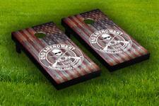 2nd Amendment Cornhole Board Wraps Laminated Sticker Set Skin Decal