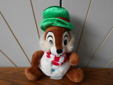 SNOWMAN CHIP Christmas soft toy plush/comforter 'N' DALE Disney Store Exclusive