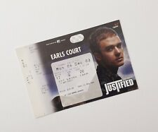 More details for justin timberlake memorabilia / tickets - unused ticket(s) earls court 08/12/03