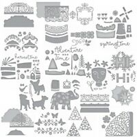 Happy Harvest Time Autumn Mill Lace Frame Cutting Dies Scrapbooking Embossing