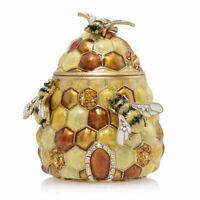 Jay Strongwater Honey Beehive Box 14K gold Swarovski crystals, SDH7398-280