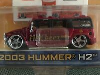 Jada Toys Dub City 2003 Hummer H2 Fire Department New in Package 2004