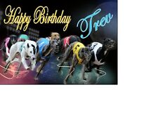 PERSONALISED GREYHOUND RACING DOGS BIRTHDAY CARD A5 anyNAMEage GREETING OCCASION