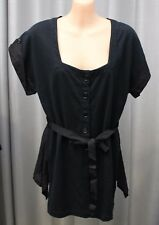 * NEW * Mild Red famous NZ label - short sleeve black top SIZE 12 RRP 384