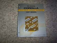 1997 Toyota Corolla Electrical Wiring Diagram Manual STD CE DX 1.6L 1.8L 4Cyl