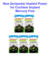ZeniPower Cochlear Implant Batteries Size A675P Mercury Free (30 count)