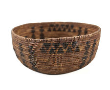 c1850? Native American Indian Coiled Basket Bowl, willow? rod foundation