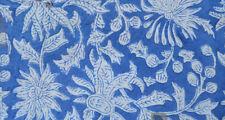 10 Yard Indian Hand block Print Running Loose Cotton Fabrics Printed Decor #79