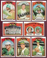 1972 Topps Oakland A's Team Set Jackson Hunter Blue Fingers Bando McLain (37)