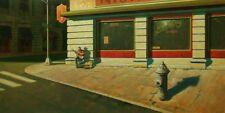 "BEAUTIFUL ORIGINAL MARK HARRISON ""Night & Day"" Hopper's ""Nighthawk OIL  PAINTING"