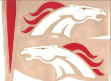 DENVER BRONCOS FULL SIZE FOOTBALL HELMET DECALS W/STRIPES & BUMPERS