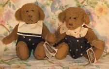 1995 GANZ COTTAGE COLLECTIBLES ANNIE & JAKE BEAR'S SIGNED BY CAROL KIRBY W/ TAG