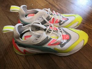 Mens Puma LQDCELL Origin Training shoes size 11 Whit Yellow Alert neon Used