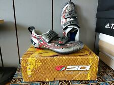 Sidi Women's T3 Carbon Mamba Shoes Silver/Red 38.5