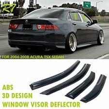 Fit 04-2008 Acura! Tsx Sedan Smoked Window Visor Rain Guard Sun Block Deflector (Fits: Acura Tsx)