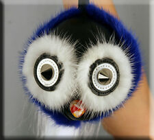 New Blue Owl Fur Key Chain- Mitchies Monsters - Extra Large Size - Efurs4less
