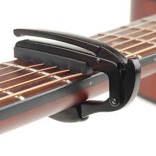 Guitar Quick Change Key Clamp Classic Acoustic Electric Tune Trigger Capo Black