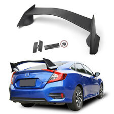 For 2016-2018 Honda Civic 4Dr Sedan Type R Style Plastic Rear Trunk Wing Spoiler