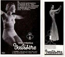 VINTAGE AD FRENCH LINGERIE VALISERE BEAUTFUL WOMAN PHOTO