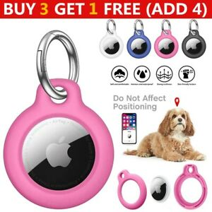 Plastic TPU Protective Case Cover for Apple AirTags GPS Anti-lost Keychain Ring