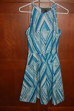 SUMMER Dress Multi Color Blues Size XXL Women DIAMOND PRINT by Mossimo NWT