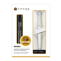 Cross Beverly Pearlescent White Lacquer Ballpoint Pen Incl. Gift Box w/ Refills