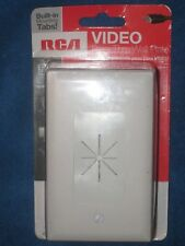 RCA VH64R Pass Thru Wall Plate for Audio Video Computer Cables, White, New!