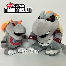 2X New Super Mario Bros Baby Dry Bowser Jr. Bowser Plush Soft Toy Teddy Doll 11""