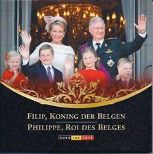 """Belgien offizieller KMS 2014 im Folder/BU """"Thronwechsel"""" Filip Koning der Belgen"""